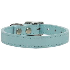 Mirage Pet Products Plain Leather Collars Baby Blue 22