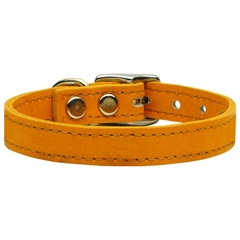 Mirage Pet Products Plain Leather Collars Mandarin 14