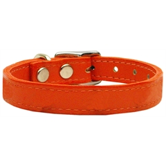Mirage Pet Products Plain Leather Collars Orange 12