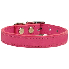 Mirage Pet Products Plain Leather Collars Pink 22