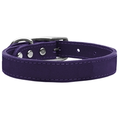Mirage Pet Products Plain Leather Collars Purple 20