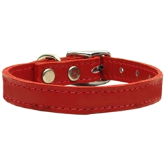 Mirage Pet Products Plain Leather Collars Red 16