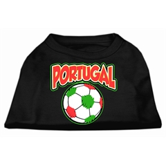 Mirage Pet Products Portugal Soccer Screen Print Shirt Black Med (12)