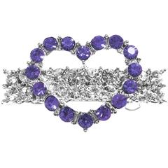 Mirage Pet Products Heart Hair Barrette Purple