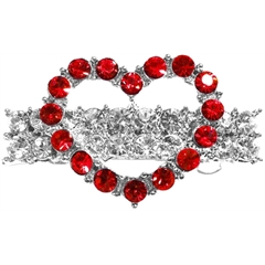 Mirage Pet Products Heart Hair Barrette Red