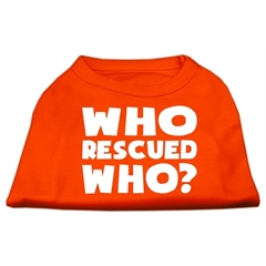 Mirage Pet Products Who Rescued Who Screen Print Shirt Orange XXL (18)