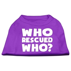 Mirage Pet Products Who Rescued Who Screen Print Shirt Purple XXXL (20)
