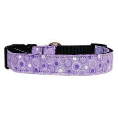 Mirage Pet Products Retro Nylon Ribbon Collar Lavender Sm