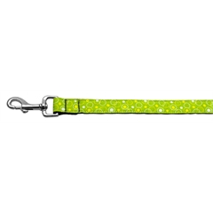 Mirage Pet Products Retro Nylon Ribbon Collar Lime Green 1 wide 4ft Lsh