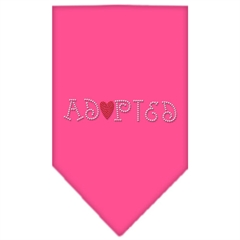 Mirage Pet Products Adopted Rhinestone Bandana Bright Pink Large