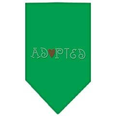 Mirage Pet Products Adopted Rhinestone Bandana Emerald Green Large