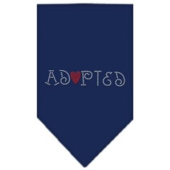 Mirage Pet Products Adopted Rhinestone Bandana Navy Blue large