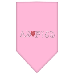Mirage Pet Products Adopted Rhinestone Bandana Light Pink Small