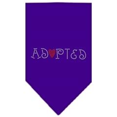 Mirage Pet Products Adopted Rhinestone Bandana Purple Small