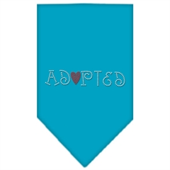 Mirage Pet Products Adopted Rhinestone Bandana Turquoise Small