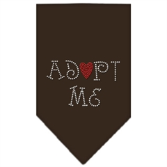 Mirage Pet Products Adopt Me Rhinestone Bandana Cocoa Large