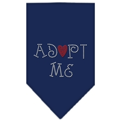 Mirage Pet Products Adopt Me Rhinestone Bandana Navy Blue large
