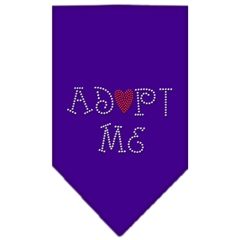 Mirage Pet Products Adopt Me Rhinestone Bandana Purple Small