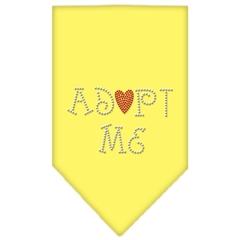Mirage Pet Products Adopt Me Rhinestone Bandana Yellow Small