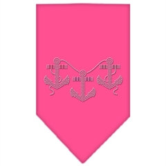 Mirage Pet Products Anchors Rhinestone Bandana Bright Pink Large