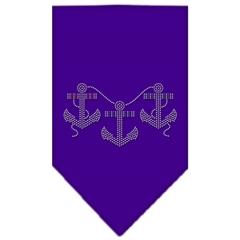Mirage Pet Products Anchors Rhinestone Bandana Purple Small