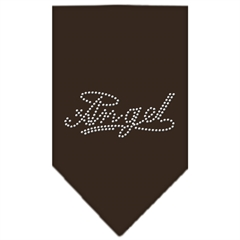Mirage Pet Products Angel Rhinestone Bandana Cocoa Large