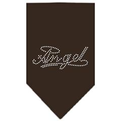 Mirage Pet Products Angel Rhinestone Bandana Cocoa Small