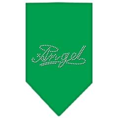 Mirage Pet Products Angel Rhinestone Bandana Emerald Green Large
