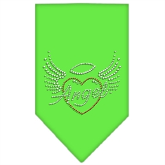 Mirage Pet Products Angel Heart Rhinestone Bandana Lime Green Large