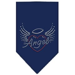 Mirage Pet Products Angel Heart Rhinestone Bandana Navy Blue large
