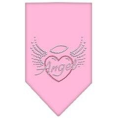 Mirage Pet Products Angel Heart Rhinestone Bandana Light Pink Large
