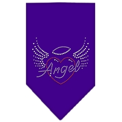 Mirage Pet Products Angel Heart Rhinestone Bandana Purple Large