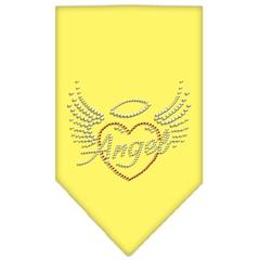 Mirage Pet Products Angel Heart Rhinestone Bandana Yellow Large