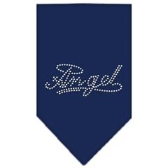 Mirage Pet Products Angel Rhinestone Bandana Navy Blue large