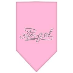 Mirage Pet Products Angel Rhinestone Bandana Light Pink Large