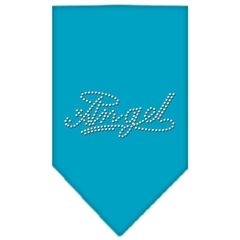 Mirage Pet Products Angel Rhinestone Bandana Turquoise Large
