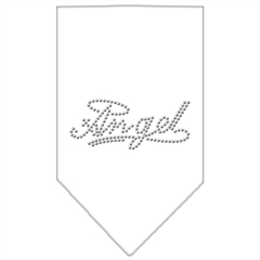 Mirage Pet Products Angel Rhinestone Bandana White Large