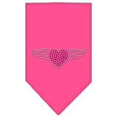 Mirage Pet Products Aviator Rhinestone Bandana Bright Pink Large