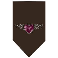 Mirage Pet Products Aviator Rhinestone Bandana Cocoa Small