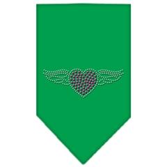 Mirage Pet Products Aviator Rhinestone Bandana Emerald Green Small