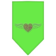 Mirage Pet Products Aviator Rhinestone Bandana Lime Green Large
