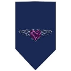 Mirage Pet Products Aviator Rhinestone Bandana Navy Blue large