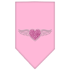 Mirage Pet Products Aviator Rhinestone Bandana Light Pink Small