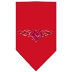Mirage Pet Products Aviator Rhinestone Bandana Red Large
