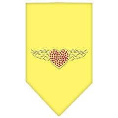 Mirage Pet Products Aviator Rhinestone Bandana Yellow Large