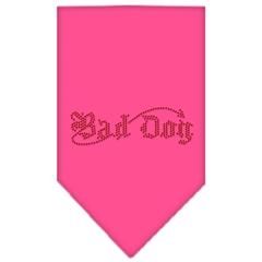 Mirage Pet Products Bad Dog Rhinestone Bandana Bright Pink Small