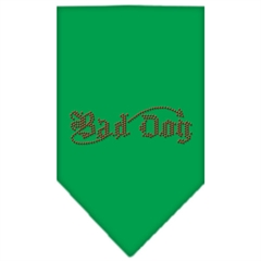 Mirage Pet Products Bad Dog Rhinestone Bandana Emerald Green Small