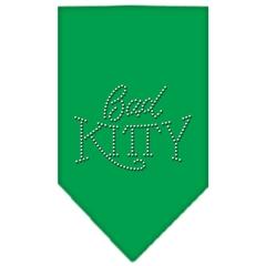 Mirage Pet Products Bad Kitty Rhinestone Bandana Emerald Green Small
