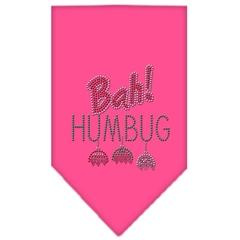 Mirage Pet Products Bah Humbug Rhinestone Bandana Bright Pink Small