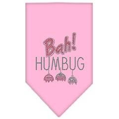 Mirage Pet Products Bah Humbug Rhinestone Bandana Light Pink Large